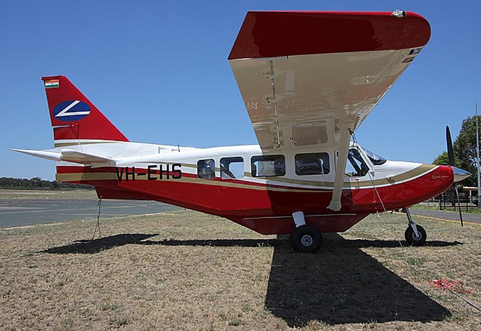 Plane used for 12 Apostles flights from Tiger Moth World, Torquay Airport, near Melbourne