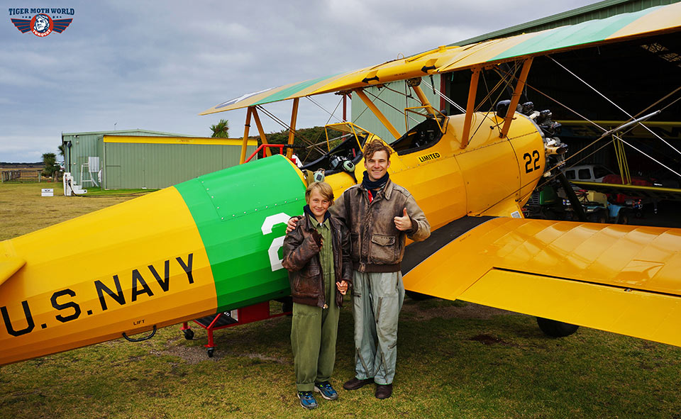 Tiger Moth World happy passenger after their adventure flight