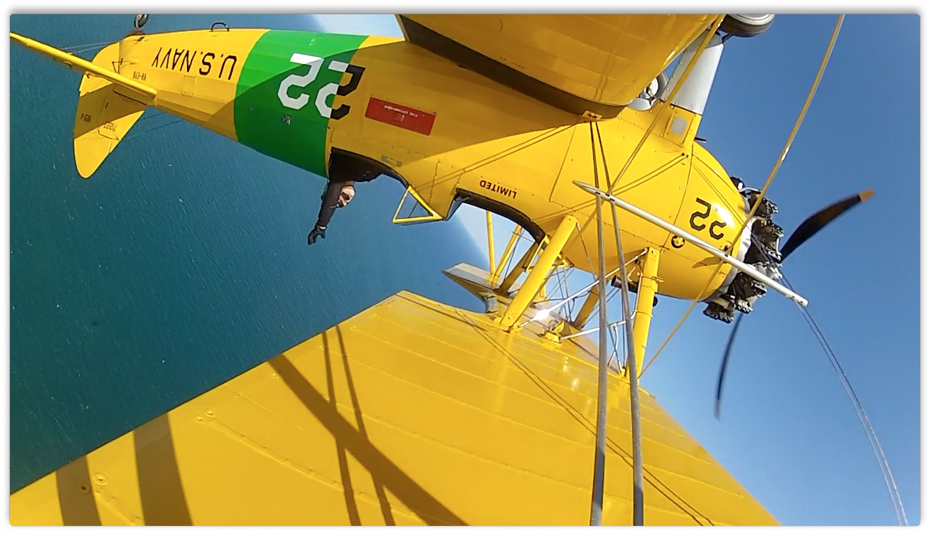 upside down in a Tiger Moth World plane over Torquay
