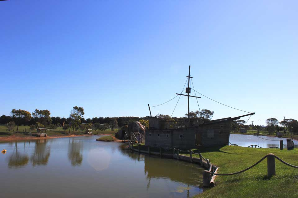 Adventure Park Torquay, pirate ship, Tiger Moth World. Fun things to do with the family in Torquay on the Great Ocean Road.