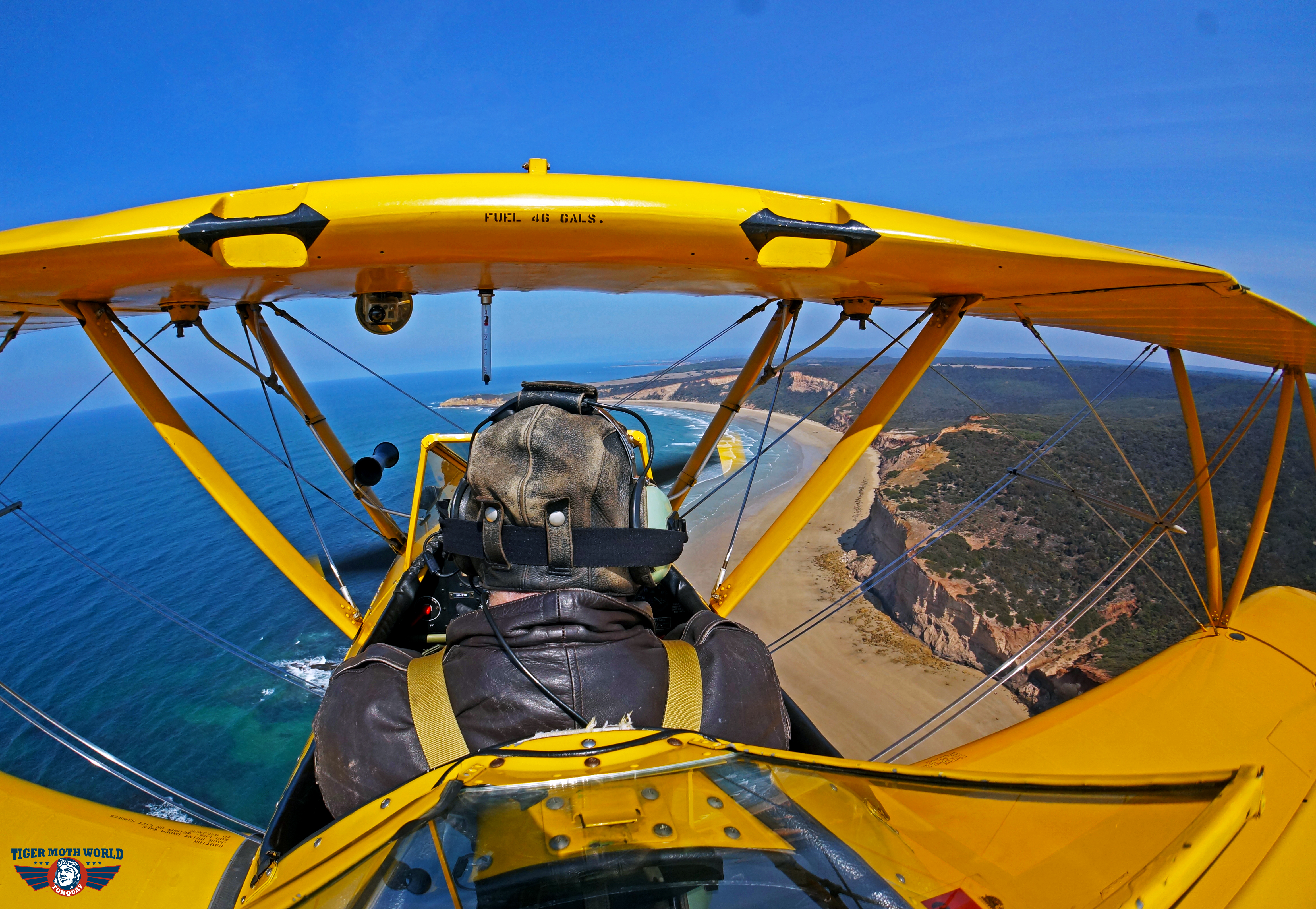 Flying along the cliffs of the Great Ocean Road