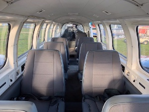 Modern 9 passenger aircraft interior for 12 Apostles flights from Torquay Airport