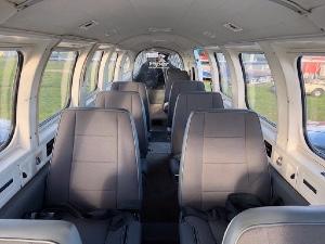 Modern 9 passenger aircraft interior for 12 Apostles flights from Torquay Airport
