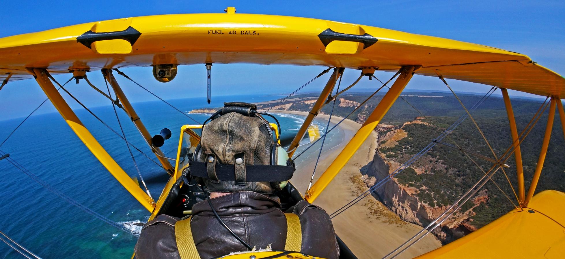 Tiger Moth World flight along the Great Ocean Road